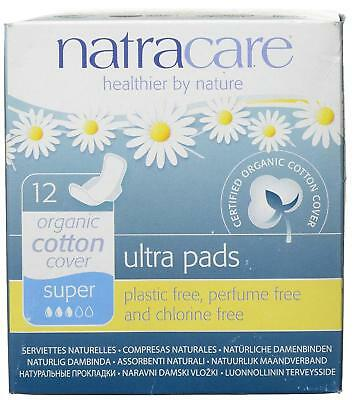Natracare Natural Ultra Pads Super With Wings 12s (Pack of 9)