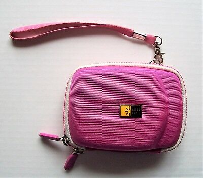 Case Logic Portable Hard Drive Pouch Zipper Protective Pink Carrying Case