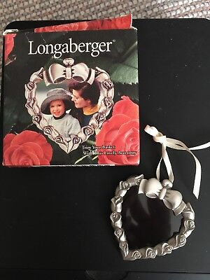 Longaberger Pewter Picture Frame Heart Tie-On -  Item 72770