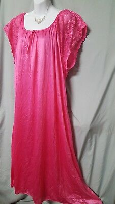 """Ventura ANKLE  LENGTH IVORY SLEEVELESS BABYDOLL NIGHT GOWN PLUS SIZE 1X 52/"""" Bust"""