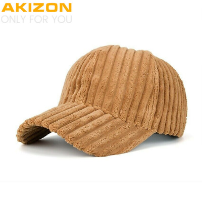 Baseball cap Unisex Couple Solid Color Corduroy Winter Warm Women Mens Hats