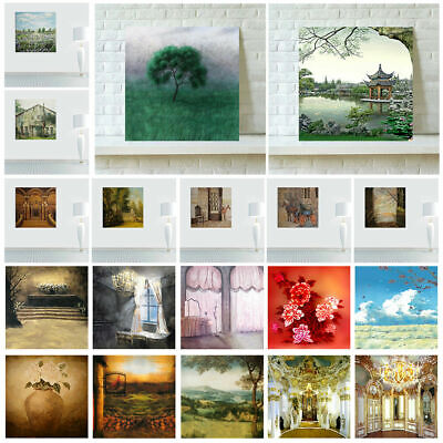 Retro Print Unframed Art Oil Painting Canvas Wall Picture Decor Painted Poster