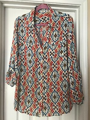 CATO Button Roll tab Long sleeve Top shirt Purple Rayon Womens Plus size 18W 20W