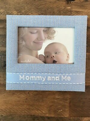 NEW Mud Pie Mommy And Me Baby Boy Picture Frame