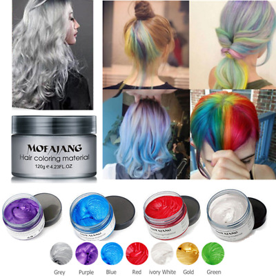 Unisex DIY Hair Color Wax Mofajang Mud Dye Cream Temporary Modeling 7 Colors new