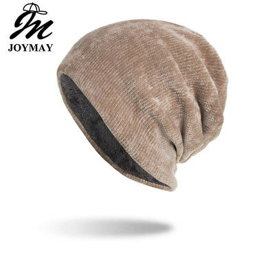 Joymay 2018 New Winter Hat Unisex Chenille Skullies & Beanies Knitting Cap Hats