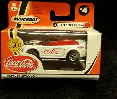 New Matchbox #4 1999 Ford Mustang Coca Cola (Misc-5)