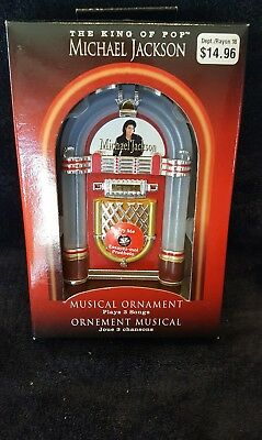 New The King Of Pop Michael Jackson Musical Ordament (Tins)
