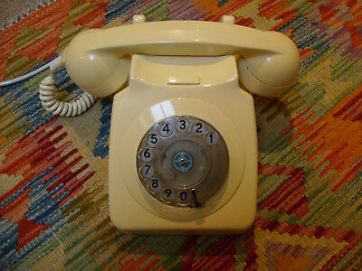 Authentic Vintage 1970's Cream Colour Dial Telephone BT GPO Rotary Phone