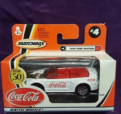 New Matchbox Coca Cola 50 Years #4 1999 Ford Mustang 2001 M-1