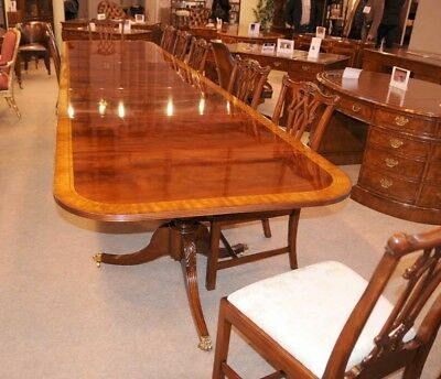 Regency Dining Table - Triple Pedestal Mahogany Diner 16 ft
