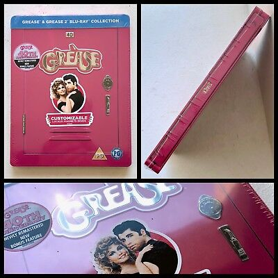Grease 1 & 2 Blu-ray Steelbook Limited Edition UK 40th Anniversary - Sold Out