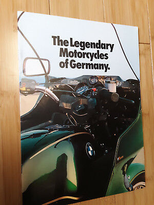 1982 BMW Motorcycle Sales Brochure R100RT R100RS R100 R80G/S R65LS R65