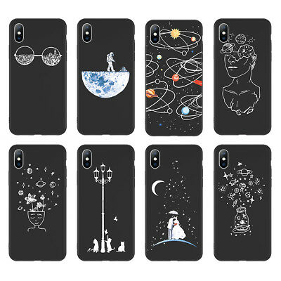 Shockproof Rubber Phone Case Soft TPU Cover for iPhone XR XS MAX 8 6s 7 Plus
