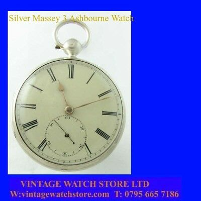 Victorian  Stunning Silver Ashbourne Fusee lever Massey 2 Pocket Watch 1841