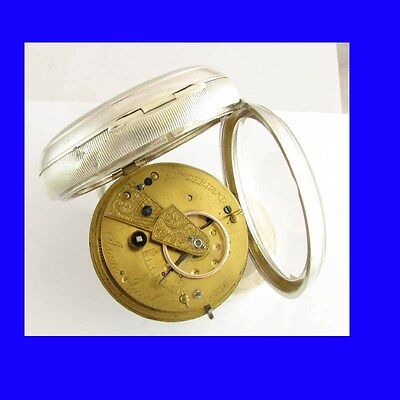 Stunning Jewish Silver Fusee Jacobs of  Sunderland Goliath Pocket Watch 1894