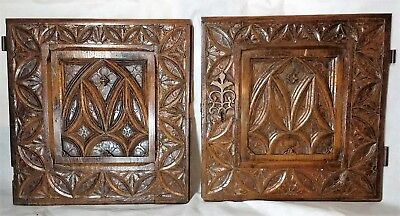 Very Rare 15th Century English Gothic Oak Doors - circa 1450