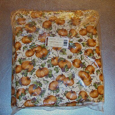 Longaberger Pumpkin Patch FABRIC 5-Yards Yds ~ Made in USA ~ Brand New in Bag!