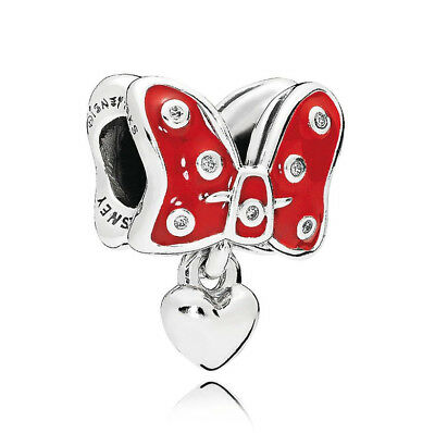 Original Pandora DISNEY Charm Minnie Bow Red 796333EN09 Silber 925 NEU
