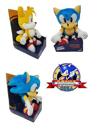 Tomy Official Sonic The Hedgehog or Tails 12-Inch Classic Plush Toy Gift Boxed