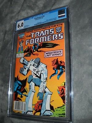 Transformers 25 Cgc 6.0 White Pages Marvel Comics