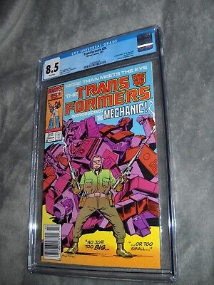 Transformers 26 Cgc 8.5 White Pages Marvel Comics
