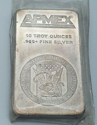 APMEX 10 Troy Ounce .999 Fine Silver American Eagle Bar - Sealed