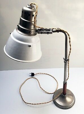 Ancienne Lampe atelier JLRIN ILRIN ART DECO BAUHAUS Workshop Table Lamp 1920 30