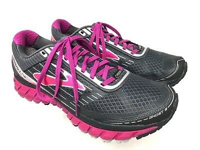 972cd5b5d9c46 BROOKS GHOST 9 GTX Womens Fuchsia Gray Silver Running Shoes Size 10 ...