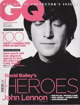 GQ BRITISH ONE OF SIX COLLECTOR'S ISSES  MARCH 2014 Magazine 100 MOST CONNECTED