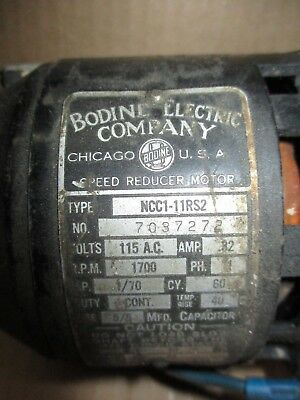 A/c Motor With Speed Reducer Bodine Electric Type  Ncci-11R52