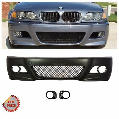 Bmw E46 M3 Style Front Bumper Kit W Mesh W Fog Light Covers 2000 2006 Coupes