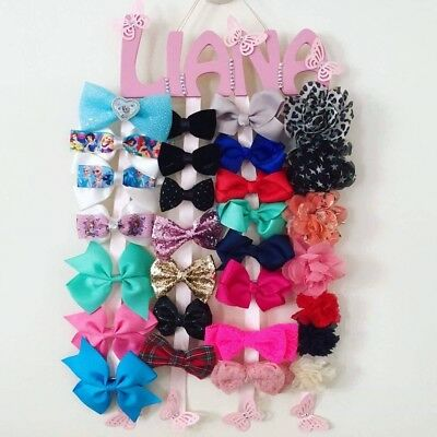 Personalised Name Hair Clip Holder