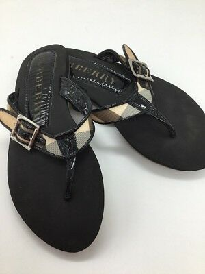 bb823fd9d9ecaa BURBERRY LANCASTER CHECK Thong Flat Sandals 41 10  195 -  107.99 ...