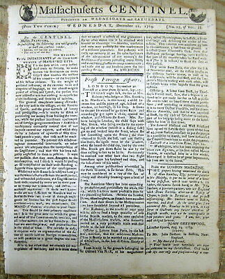 <1784 newspaper RICHARD HENRY LEE ELECTED PRESIDENT of US Articles Confederation