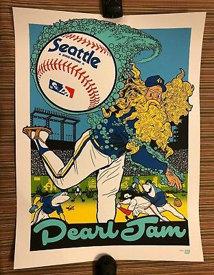 PEARL JAM - Ames Bros POSTER Safeco Field Seattle 2018 IN HAND home away  shows 3726765a29e4