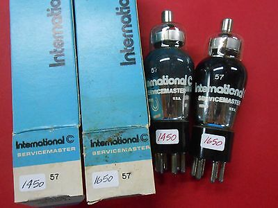 International Servicemaster Type 57 Black Glass NOS? Two Matched Vacuum Tubes 4