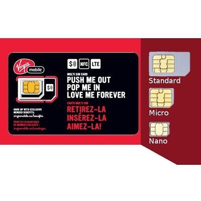 Virgin Mobile Multi Sim Card + ships free same business day from Canada