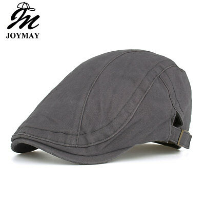 JOYMAY 2018 New Arrival Spring Berets Caps Unisex Casual Plain Vintage Peaked