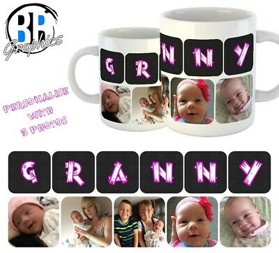 PHOTO GRANNY MUG Personalised Christmas Gift Best Granny Birthday Present Cup