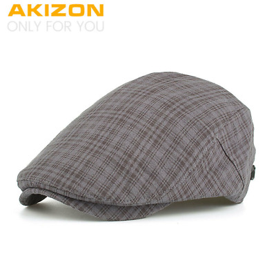 AKIZON 2018 New Arrival Spring Berets Caps High quality Unisex Casual grid