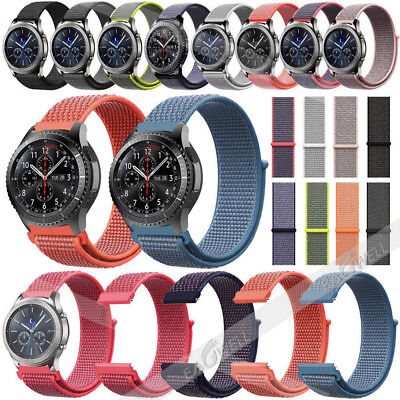 Universal Luxury Woven Nylon Loop Wrist Watch Band Strap Replacement 20mm 22mm