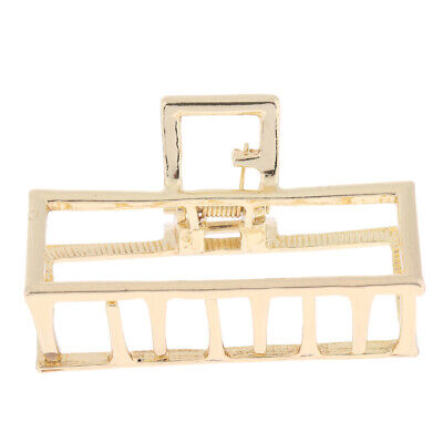 Retro Gold Silver Metal Hair Jaw Clips Clamp Claw Barrette Women Girls