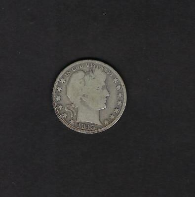US 1915-S Barber Half Dollar Silver Coin in VG Very Good Condition
