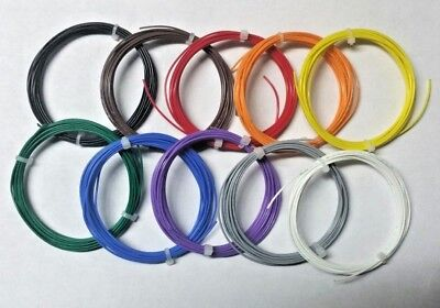 22 AWG Mil-Spec Wire (PTFE)  Stranded Silver Plated Copper, Assortment, 100 ft
