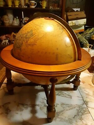 "Vintage Replogle World Premier Series 12"" Light up Table/Desk Topographic Globe"