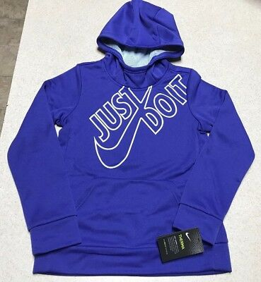 GIRLS NIKE THERMA Dri Fit Pullover Hoodie Jacket (JUST DO IT