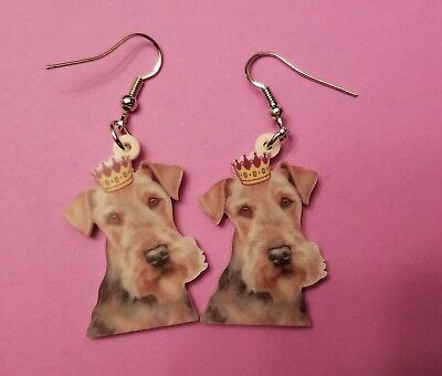 Oh yes Airdeale Terrier Dog fun earrings  jewelry FREE SHIPPING king of terriers