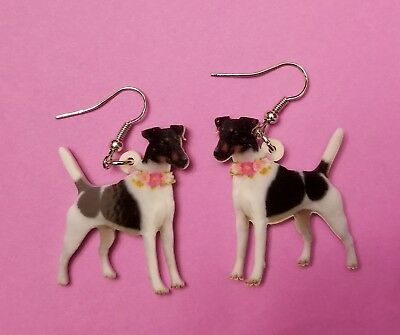 Smooth Fox Terrier Dog fun earrings  jewelry FREE SHIPPING! New