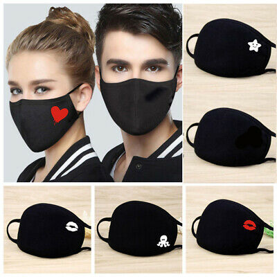 Dust-Proof Cotton Mouth Mask Respiratory Health Care Half Face Cartoon Printed